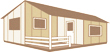 Integrierte überdachte Terrasse